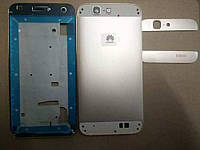 Корпус для смартфона Huawei Ascend G7 серебристого цвета