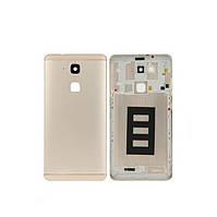 Задня панель корпуса з боковою кнопкою для смартфону Huawei Ascend Mate 7 золотистого кольору