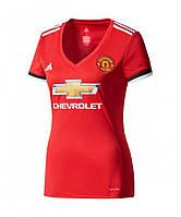 Женская футболка  Манчестер Юнайтед (домашняя) сезон 2017-2018