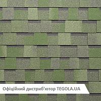 Итальянская ламинированная битумная черепица TEGOLA Master  Зеленый камень