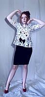 Блуза жіноча з принтом у вигляді дівчачих штучок Блуза женская