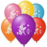 """Воздушные шары """"Леди Баг"""" 10""""(25см) Пастель Ассорти 1 сторона  В упак:100 шт."""