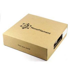 Пластик в котушці ABS 1,75 мм 0.75,  MonoFilament, бежевий, фото 2