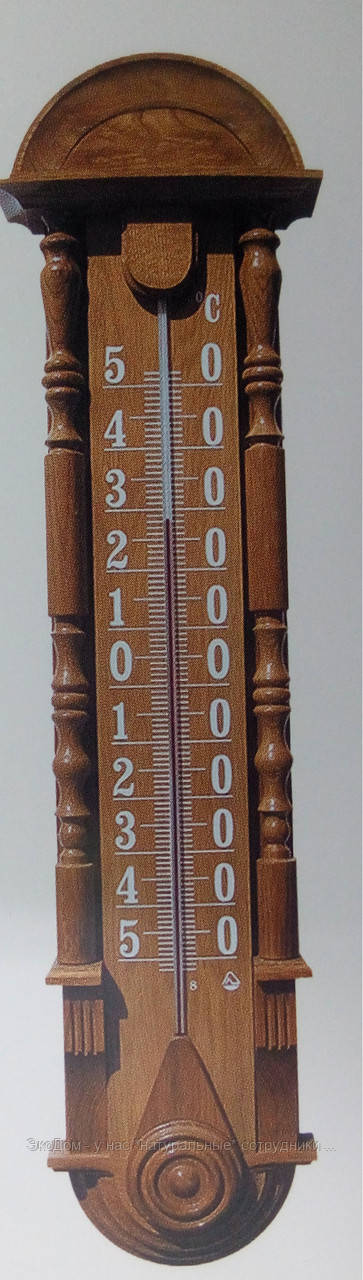 """Термометр фасадный """"Рококо"""" деревянный"""