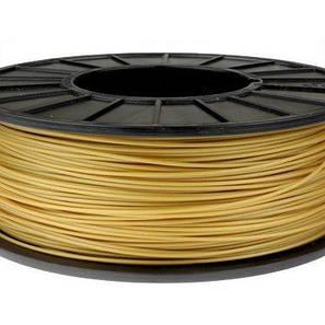 Пластик в котушці ABS 1,75 мм 0.75,  MonoFilament, золотий, фото 2