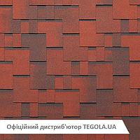 Итальянская битумная черепица TEGOLA Super Gothik Красный гранит