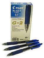 """Ручка """"Pilot"""" гелевая BL-G2-7 с резиновым гриппом синяя"""