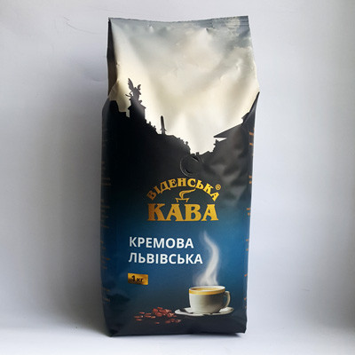 Кофе в зернах Віденська кава Кремова, 1кг