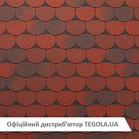 Итальянская битумная черепица TEGOLA Super Tradional  Красный гранит