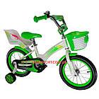Детский велосипед Crosser Kids Bike 12 дюймов бело-салатовый, фото 2