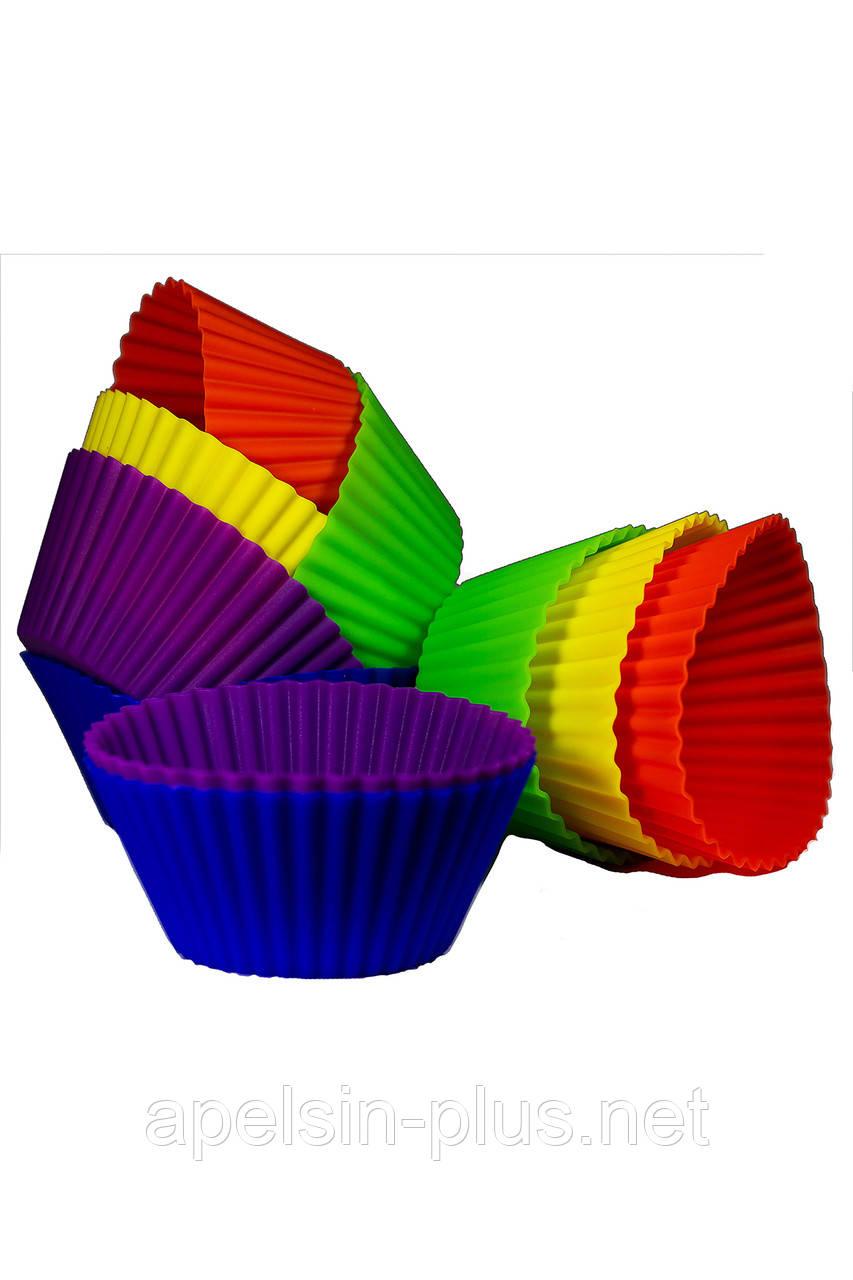 """Силиконовая форма порционная для выпекания и десертов """"Кекс рифленый"""""""