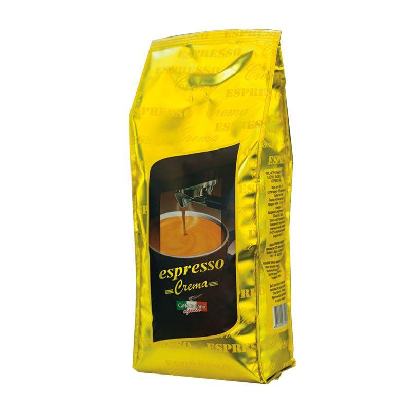 Мягкий кофе в зернах смесь сортов арабики Віденська кава Espresso Crema,1кг для приготовления эспрессо