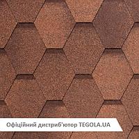 Итальянская Битумная черепица TEGOLA NobileTile West Красно-коричневый