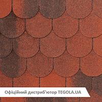 Итальянская битумная черепица TEGOLA NobilTile Verona красный с отливом