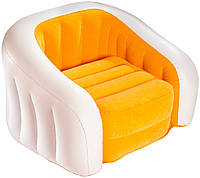 Кресло надувное Intex 68571NP  велюр, 97*76*69 см Оранжевый