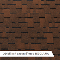 Итальянская битумная черепица TEGOLA Top Shingle Futuro Коричневый