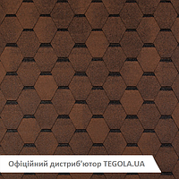 Итальянская битумная черепица TEGOLA Top Shingle Smalto Коричневый