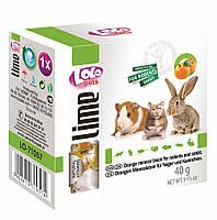 """Минеральный камень для грызунов с апельсином """"Mineral Block for Rodents and Rabbit -Orange"""" 40г. LoLo Pets™"""