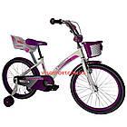 Детский велосипед Crosser Kids Bike 20 дюймов бело-фиолетовый, фото 2