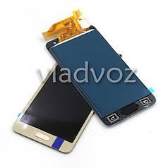 Дисплей модуль экран с сенсором для замены на Samsung A300F Galaxy A3 A300FU A300H (2015) TFT LCD золото