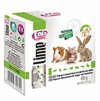 """Минеральный камень для грызунов с крекерами """"Mineral Block for Rodents and Rabbit """" 40г. LoLo Pets™"""