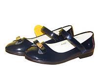 Красивые лаковые туфли Clibee D 550  синий