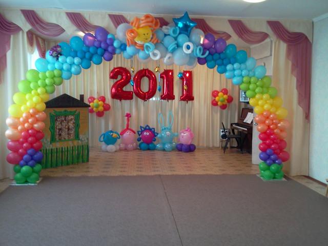 Арка из шаров на выпускной в Днепре