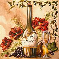 """Алмазная вышивка размер изображения 40х40 - набор """"Французское вино"""""""