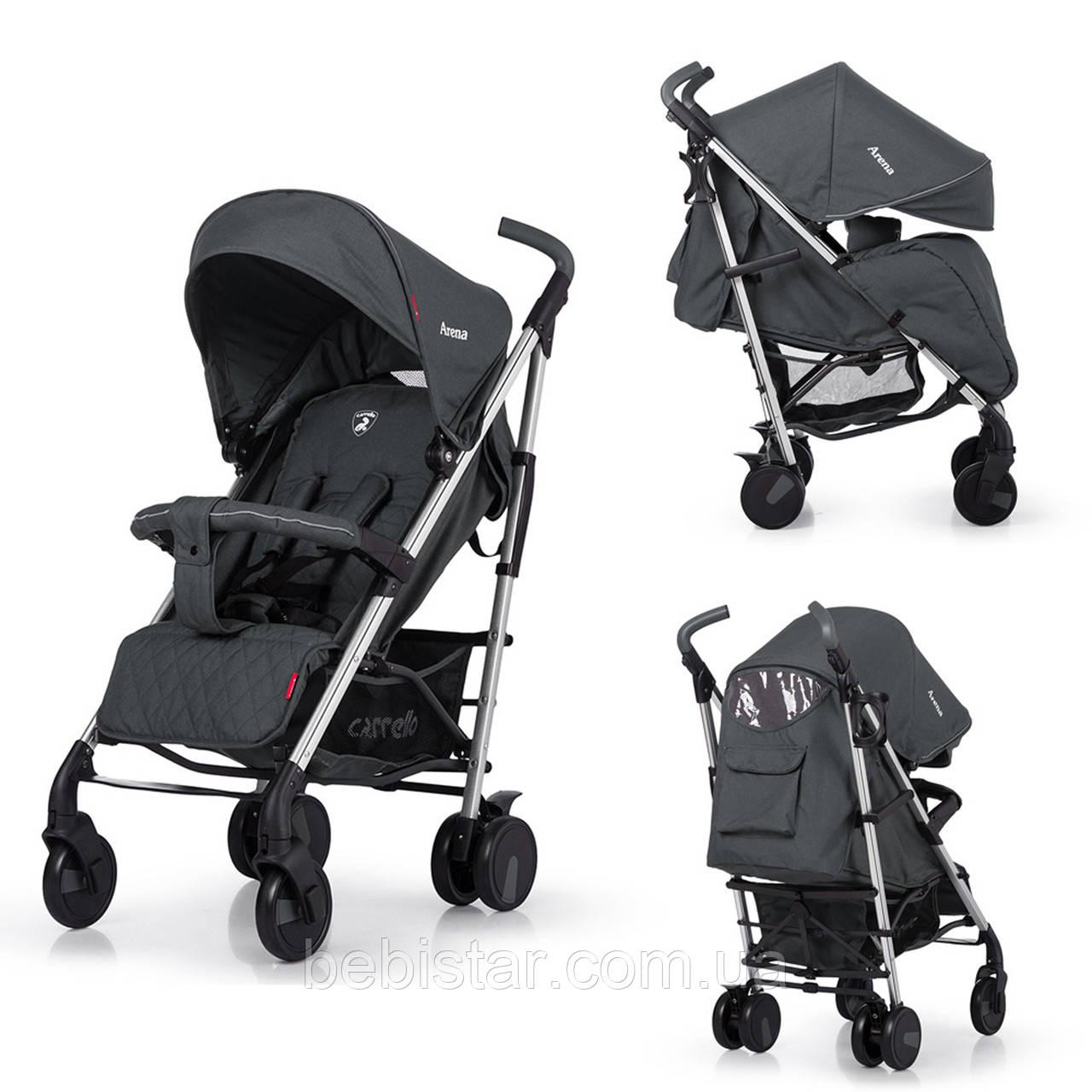 Прогулочная детская коляска-трость CARRELLO Arena CRL-8504 Storm Gray в льне