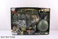 Детский набор для мальчика, Военный набор оружия с каской 33570, Игровой набор спецназ, полицейский