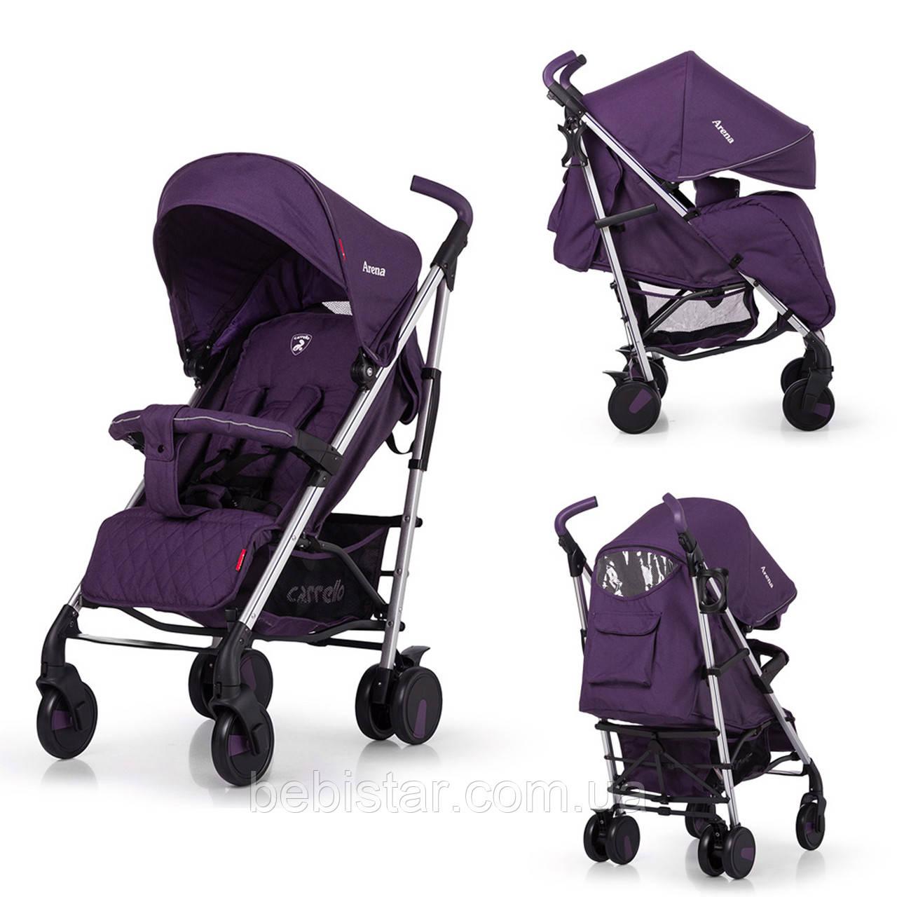 Прогулянкова дитяча коляска-тростина CARRELLO Arena CRL-8504 Ultra Violet в льоні