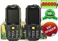 Противоударный телефон на 2 SIM с Power Bank 20000. Hope Land Rover