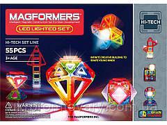 Магнітний конструктор Magformers 55 ел ЯКІСНИЙ ОРИГІНАЛ! Набір з ЛЕД підсвіткою, 55 ел. (709001)