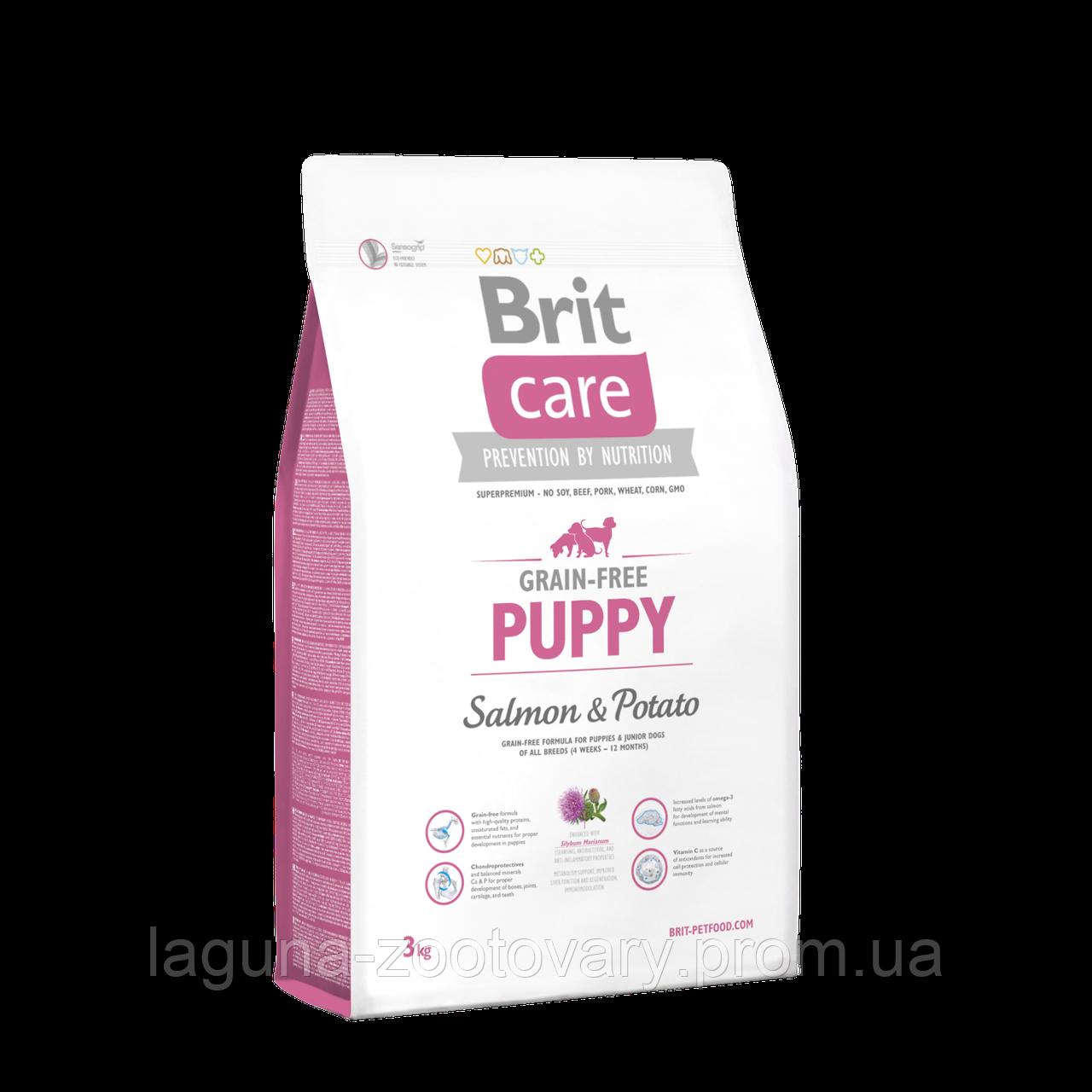 Brit Care GF Puppy Salmon & Potato 3 kg (д/щенков)