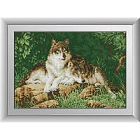"""Алмазная вышивка размер изображения 57х39 - набор """"Лесные хищники"""""""