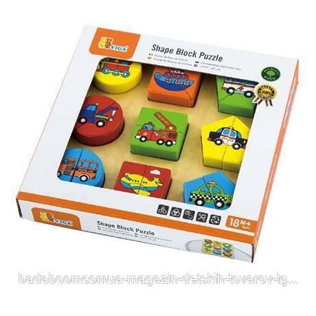"""Пазл Viga Toys """"Формы. Транспорт"""" (59586)"""