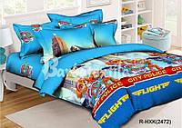 Комплект детского постельного белья полуторный щенячий патруль для девочки