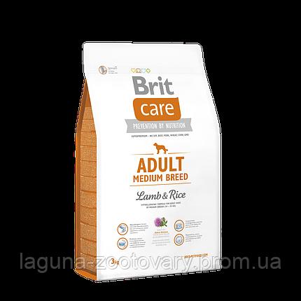 Brit Care Adult Medium Breed Lamb & Rice 3 kg (д/собак весом от 10 до 25 кг), фото 2