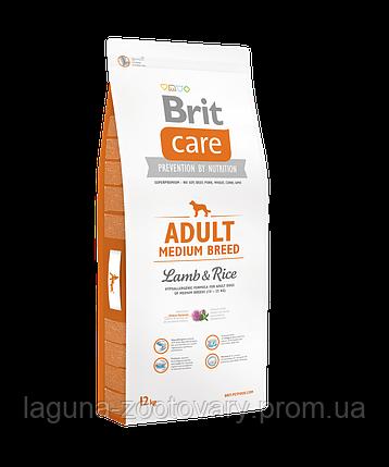 Brit Care Adult Medium Breed Lamb & Rice 12 kg (д/собак весом от 10 до 25 кг), фото 2