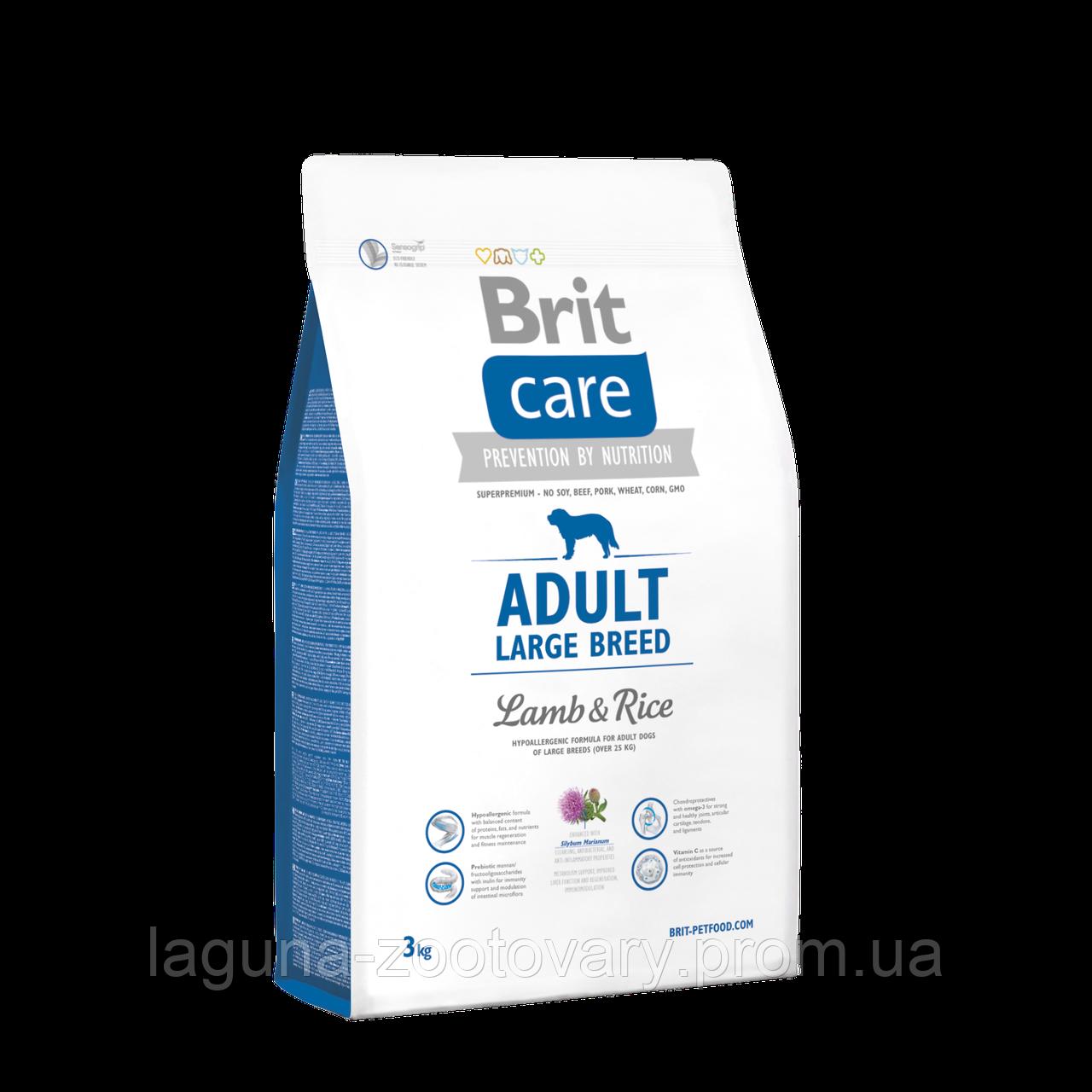 Brit Care Adult Large Breed Lamb & Rice 3 kg (д/собак весом от 25 кг)