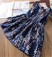 """Платье """" Сакура """" темно-синее, фото 1"""