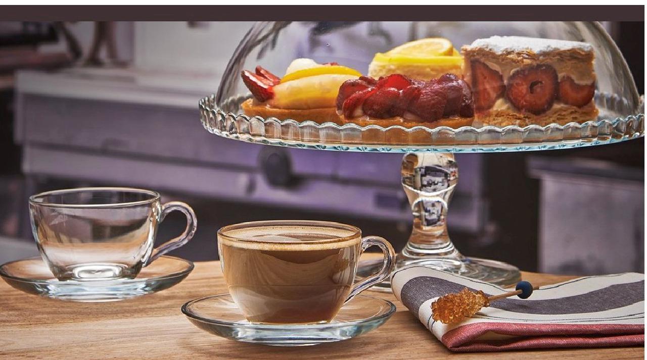 Набор чашек с блюдцами Pasabahce Басик 6шт 240 мл 97948