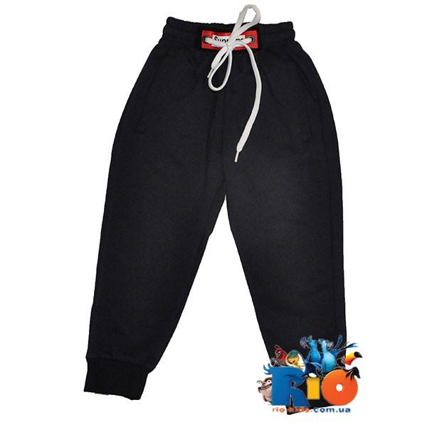Спортивные штаны с карманами, трикотаж , для мальчика ростом 92-116 см (5 ед в уп)