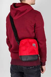 Месенджер\мессенджер (сумка на плече) - Outfits - Classic Black\Burgundy