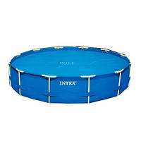 Тент для бассейна антиохлаждение  диаметром 305см Intex 29021