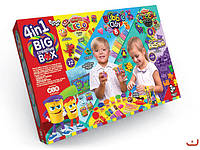 Big Creative Box 4в1 Большой Креативный Подарок 4в1 Тесто Масса для лепки Пластилин Кинетический песок