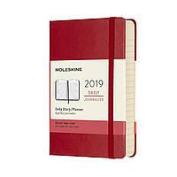 Ежедневник Moleskine 2019 Датированный Карманный Красный (9х14 см) (DHF212DC2Y19)