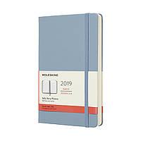 Ежедневник Moleskine 2019 Датированный Средний Голубой (13х21 см)