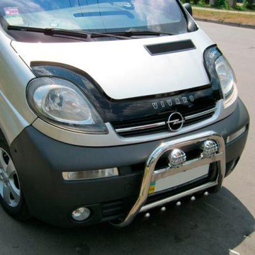 Opel Vivaro Дефлектор капота мухобойка на для OPEL Опель Vivaro 2001- (длин)