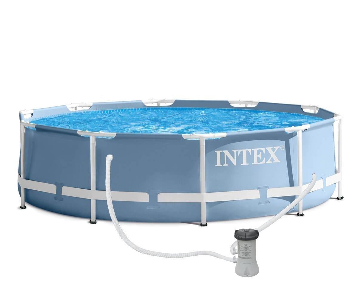 Круглый каркасный бассейн Intex, с фильтр-насосом 1250 л/час, 305х76 см (28702)